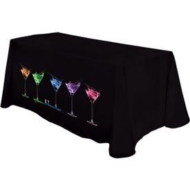 "Table Cover (6 Ft. Table, Flat, 4-Sided, 11 Ft. x 90"", Full Color Logo, Colors)"