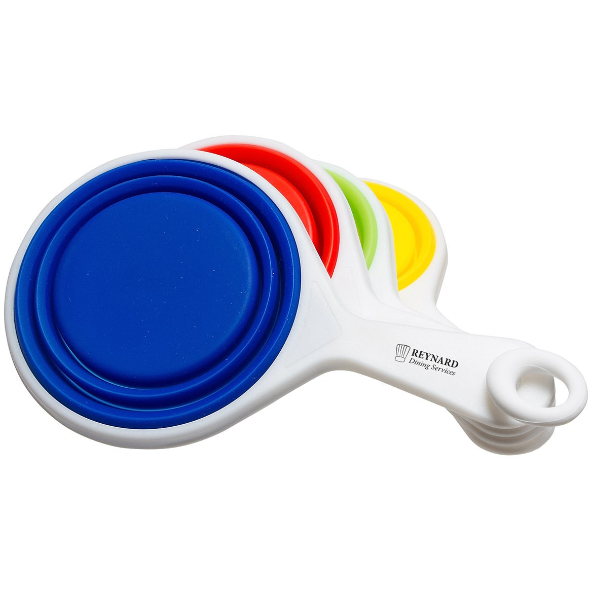 Pop out silicone measuring cups trade show giveaways 4 for Colors that pop out