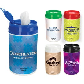 Promotional Pop-Top Wet Wipe Container