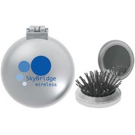 Customized Pop-Up Mirrored Hairbrush