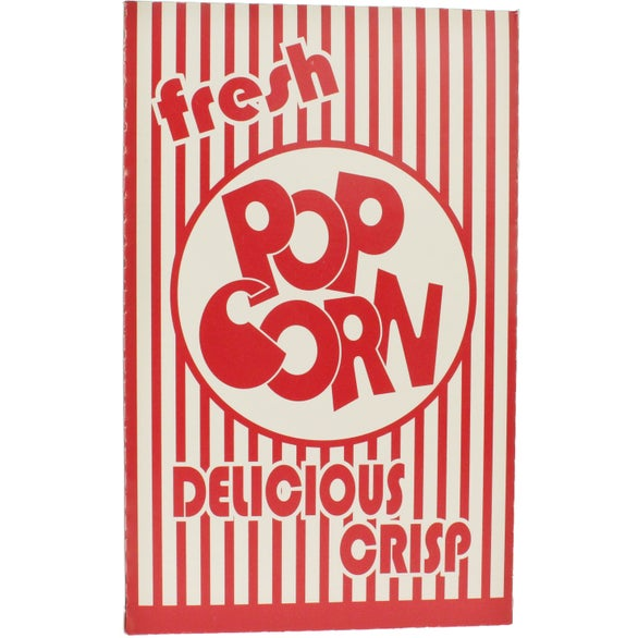redwhite closed top popcorn boxes butter popcorn