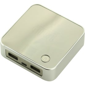 Logo Portable Dual-Port Charger