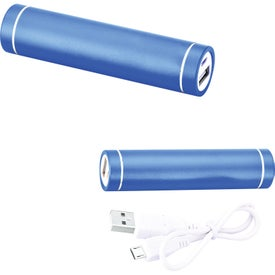 Portable Cylinder Metal Power Bank Charger (2200 mAh, UL Listed)