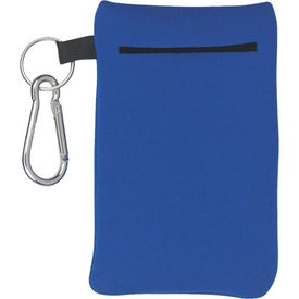Neoprene Portable Electronics Case With Carabiner for Advertising