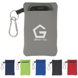 Neoprene Portable Electronics Case With Carabiner