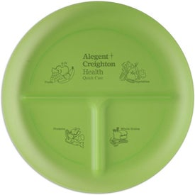 Portion Plate Imprinted with Your Logo