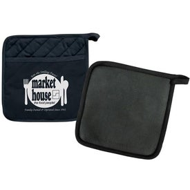 Potholder with Silicone Back Printed with Your Logo