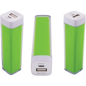 Plastic Mobile Power Bank Charger Printed with Your Logo