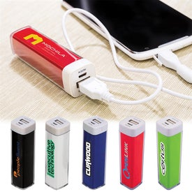 Plastic Mobile Power Bank Charger with Your Logo