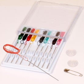 Pre-Threaded Sewing Kit With Safety Pin And Two Buttons for your School