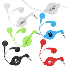 Branded Premium Retractable Ear Buds