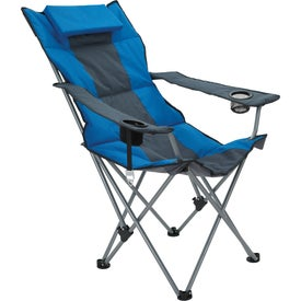 Premium Stripe Reclining Chair for Advertising