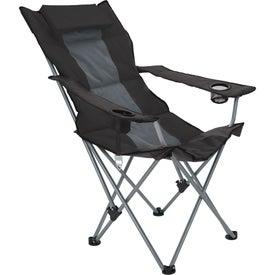 Logo Premium Stripe Reclining Chair