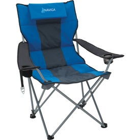 Premium Stripe Reclining Chair Imprinted with Your Logo