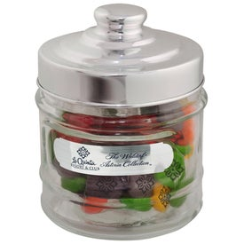 Printed Candy Apothecary Jar (Candy Coated Chocolate Mints)