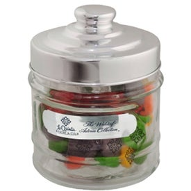 Printed Candy Apothecary Jar with Your Slogan