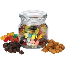 Pritchey Patio Glass Jar (8 Oz., Medium Snack Fill)