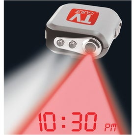 Branded Projection Clock Pedometer