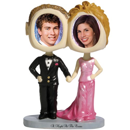 See Item Prom Couple Bobble Head