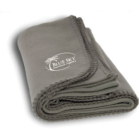 Polyester Fleece Blanket Imprinted with Your Logo