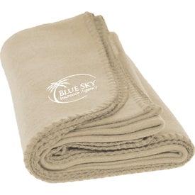 Personalized Fleece Blanket for Marketing
