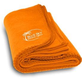 Monogrammed Polyester Fleece Blanket
