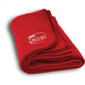 Personalized Fleece Blanket for Your Company