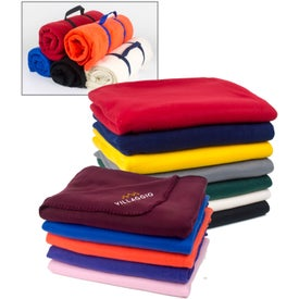 Branded Polyester Polar Fleece Blankets
