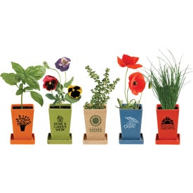 Flower Seed Planter Set with Your Logo