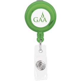 Logo Plastic Retractable Badge Holder