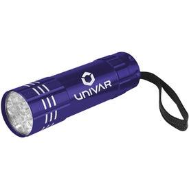 Personalized Push Button Aluminum Flashlight