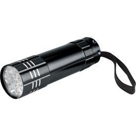 Printed Push Button Aluminum Flashlight