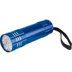 Advertising Push Button Aluminum Flashlight