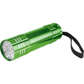 Monogrammed Push Button Aluminum Flashlight