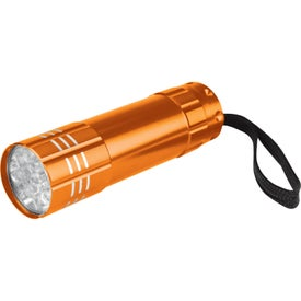 Promotional Push Button Aluminum Flashlight