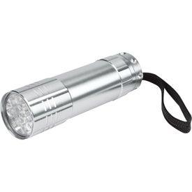 Company Push Button Aluminum Flashlight