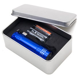 Imprinted Push Button Aluminum Flashlight