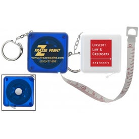Company Push Button Tape Measure Keychain