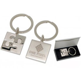 Puzzle Keychain Imprinted with Your Logo