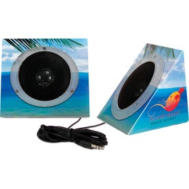 Pyramid Shape Portable Speakers (Digitally Printed)