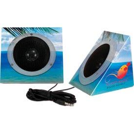 Pyramid Shape Portable Speakers (Digitally Printed)