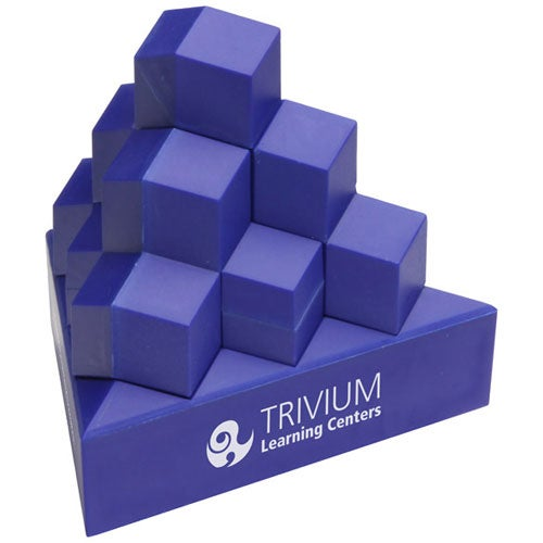 Blue Pyramid Stack Puzzle