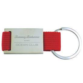 Quadrangle Canvas Key Chain with Your Slogan