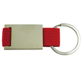 Promotional Quadrangle Canvas Key Chain