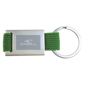 Quadrangle Canvas Key Chain Imprinted with Your Logo