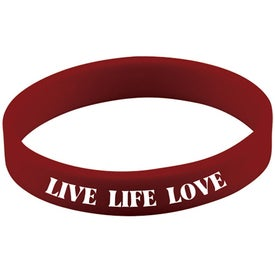 Quick Turn Pad Printed Wristbands with Your Slogan