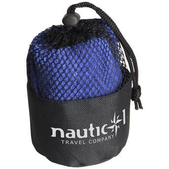 Black Pouch with Blue Towel