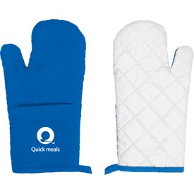Printed Quilted Oven Mitt