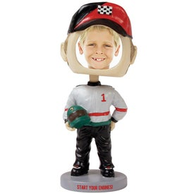 Race Car Driver Single Bobble Heads