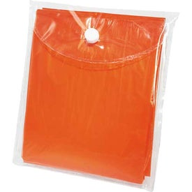 Rally Disposable Poncho with Your Slogan